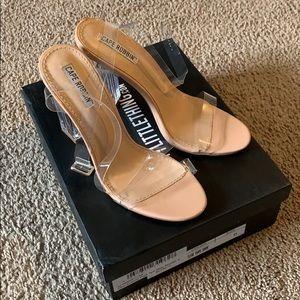 Clear twin strap Sandals